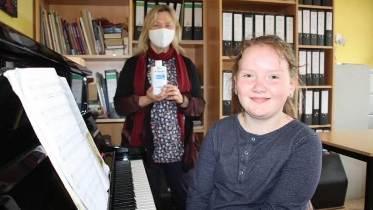 Mundschutz im Musikunterricht in Angermünde